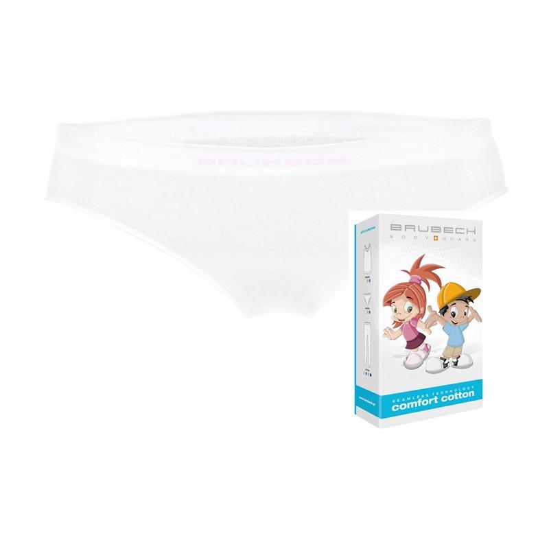 Bezszwowe majtki dla dziewczynki Brubeck HI10140 białe