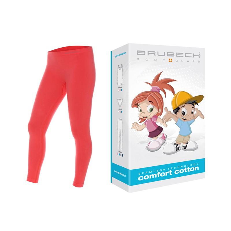 Bezszwowe legginsy dla dzieci Brubeck LE11180 koralowe