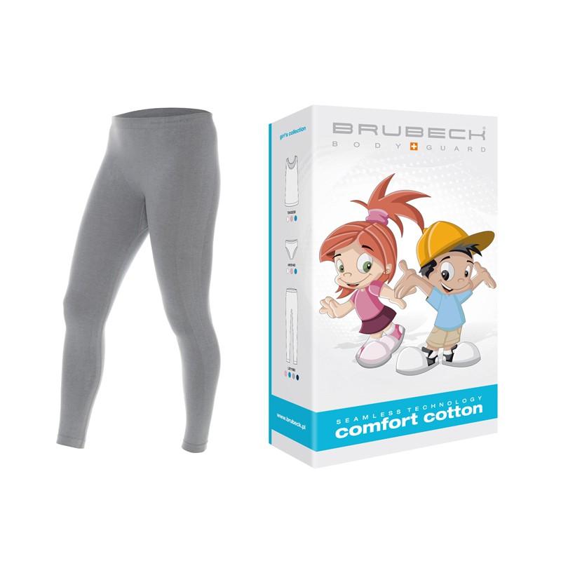 Bezszwowe legginsy dla dzieci Brubeck LE11180 szare