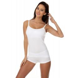 Bezszwowa koszulka Camisole Brubeck CM00210A biała