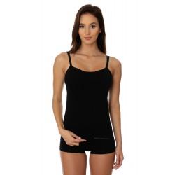 Bezszwowa koszulka Camisole Brubeck CM00210A czarna
