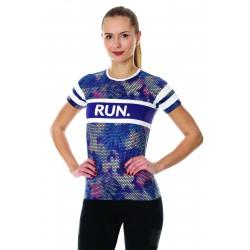 Damska koszulka do biegania Brubeck SS13250A fioletowa