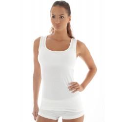 Kremowa koszulka damska z merynosa Brubeck TA10170