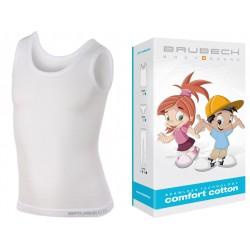 Bezszwowa koszulka dziewczęca Brubeck TA10230 biała