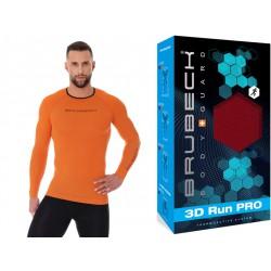 Bluza termoaktywna do biegania Brubeck LS13000 pomarańczowa