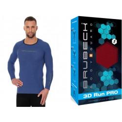Bluza termoaktywna do biegania Brubeck LS13000 niebieska
