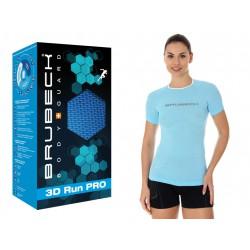 Sportowa koszulka damska Brubeck SS12030 błękitna