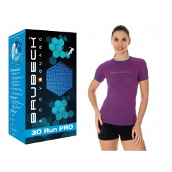 Sportowa koszulka damska Brubeck SS12030 purpurowa