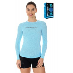 Koszulka damska sportowa Brubeck LS13140 błękitna