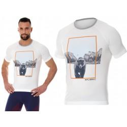 Męska koszulka do biegania Brubeck City Air biała