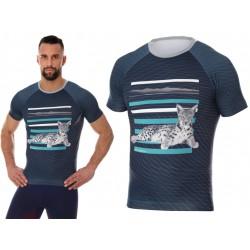 Męska koszulka do biegania Brubeck City Air grafitowa