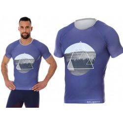 Męska koszulka do biegania Brubeck City Air fioletowa