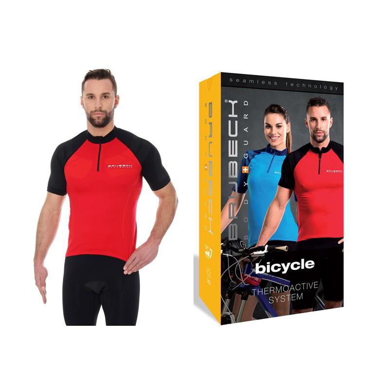 Koszulka rowerowa Brubeck termoaktywna SS12390 czerwona