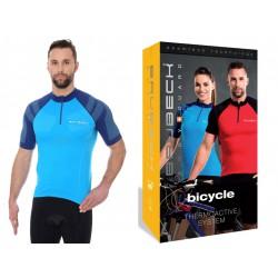 Koszulka rowerowa Brubeck termoaktywna SS12390 niebieska