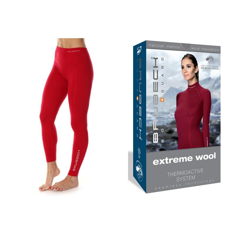 Damskie legginsy wełniane ultra ciepłe Brubeck Extreme Wool