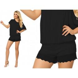 Sexy piżama damska na lato DKaren Tamara czarna