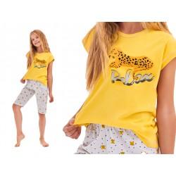 Piżama dziewczęca Taro Amelia Tygrys żółta