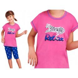 Taro Amelia piżama dziewczęca bawełniana różowa