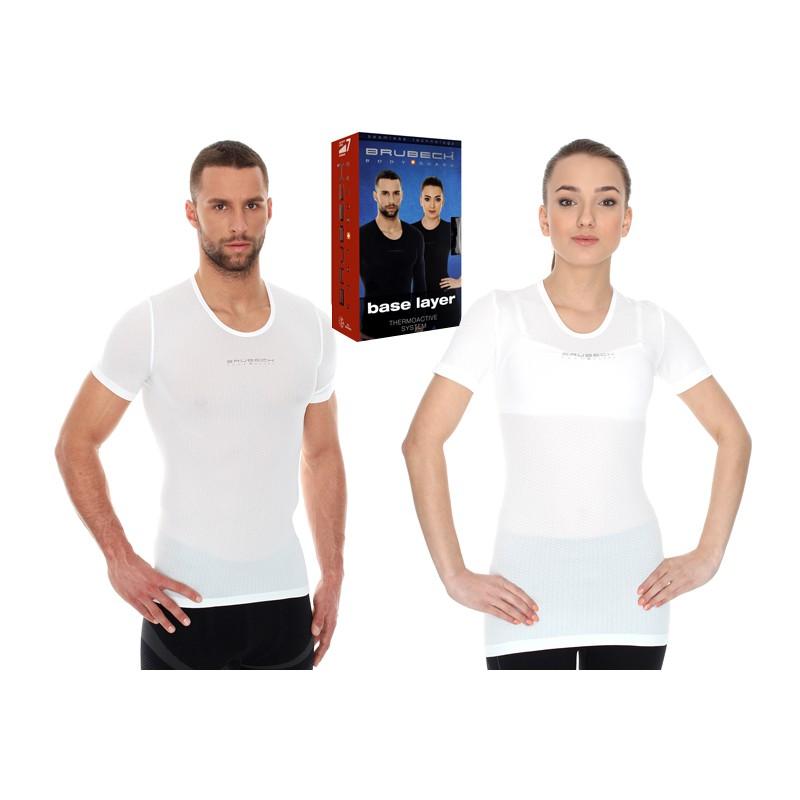 Cienka i lekka koszulka z siatki Brubeck SS10540 biała