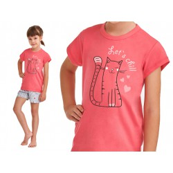 Piżama dziecięca na lato Taro Hania Malinowa