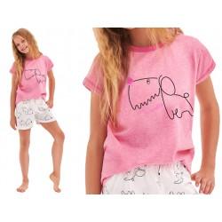 Piżama dziecięca z krótkim rękawem Taro Hania Różowa