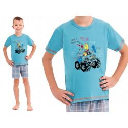 Taro Franek dziecięca piżama na lato niebieska