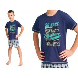 Chłopięca piżama na lato Taro Franek granatowa