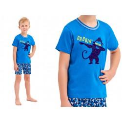 Dziecięca piżamka chłopięca z z bokserkami Taro Damian niebieska