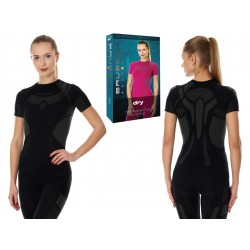 Damska koszulka termoaktywna Brubeck DRY SS11960 czarna