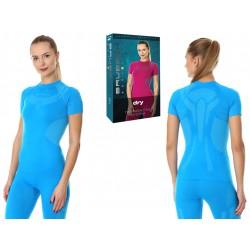Sportowa koszulka damska Brubeck SS11960 DRY niebieska