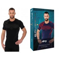Brubeck DRY męski t-shirt termoaktywny czarny