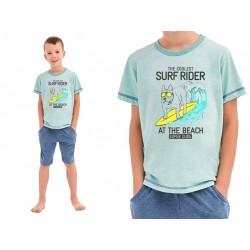 Piżama dla chłopca z mega bawełny Taro Alan błękitna 134