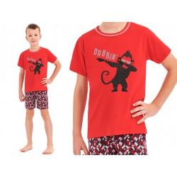 piżama dla rocznego chłopca Taro Damian czerwona 92
