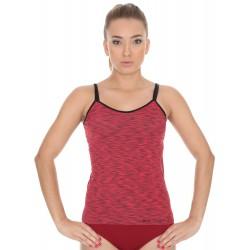 Termoaktywna koszulka damska Brubeck BI10080 czerwona