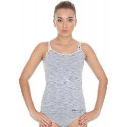 Termoaktywna koszulka damska Brubeck BI10080 szara