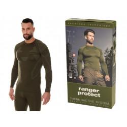 Bluza termiczna Khaki Oliwka Militarna Brubeck Protect S-ka
