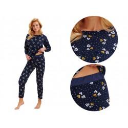 Wygodna zimowa pidżama damska długa Taro Jurata 1196