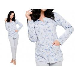 Koszulowa piżama damska na guziki Taro Fabia 2122 szara M