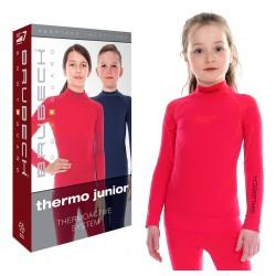 Termoaktywna bluza dziewczęca Brubeck LS13650 malinowa