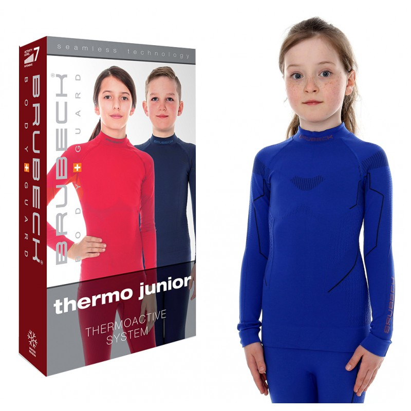 Bluza termoaktywna 128 134 cm Brubeck Thermo niebieska