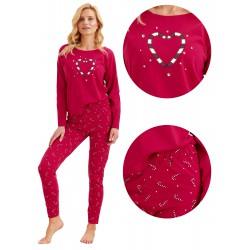 Porządna piżama damska Taro Oliwia malinowa L